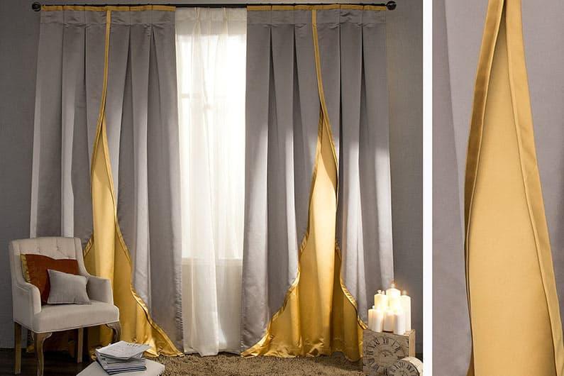 комбинированные шторы фото