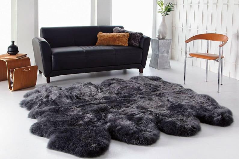 Пушистые ковры с длинным ворсом фото